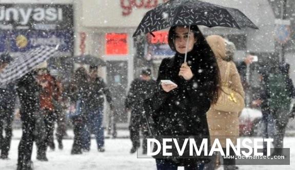 Beklenen kar İstanbul'a geliyor