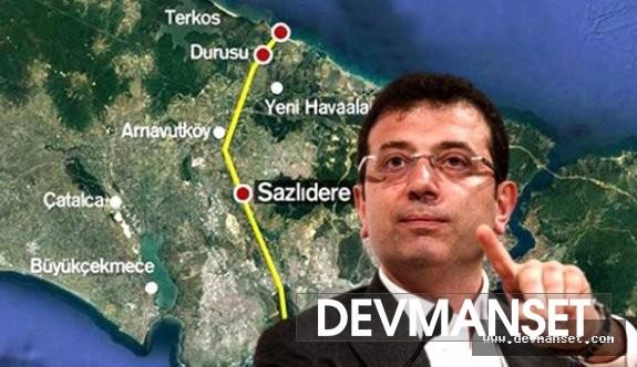 Ekrem İmamoğlu Kanal İstanbul projesiyle alakalı açıklama yaptı