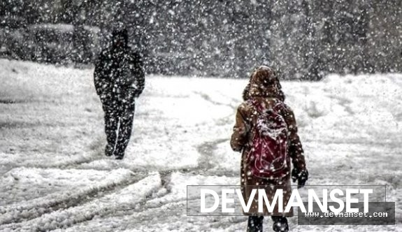 Kar eğitime engel olmaya başladı