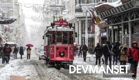 Kar Perşembe gününde İstanbul'a yağacak